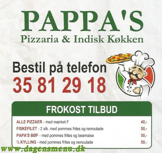 Pappa's Pizzeria & Indisk Mad