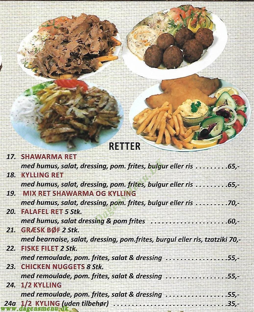 Istanbul Kebab - Menukort