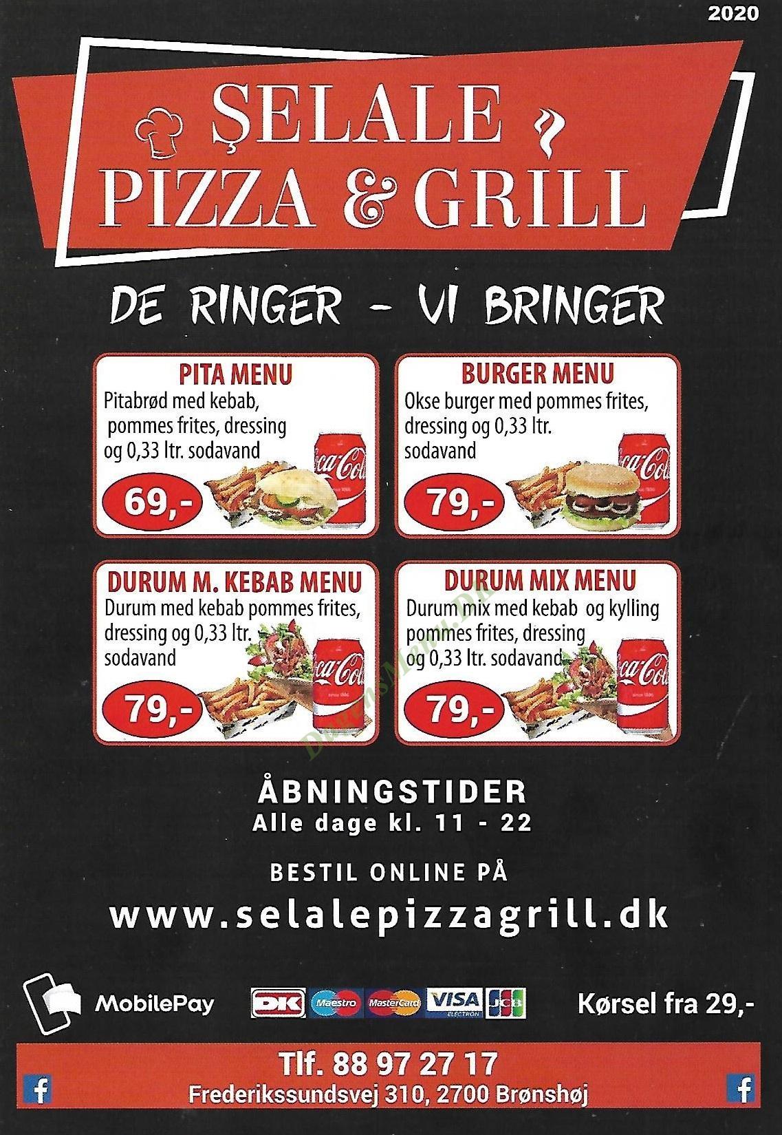 Selale Pizza & Grill - Menukort