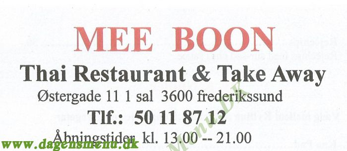 Mee Boon Thai Restaurant