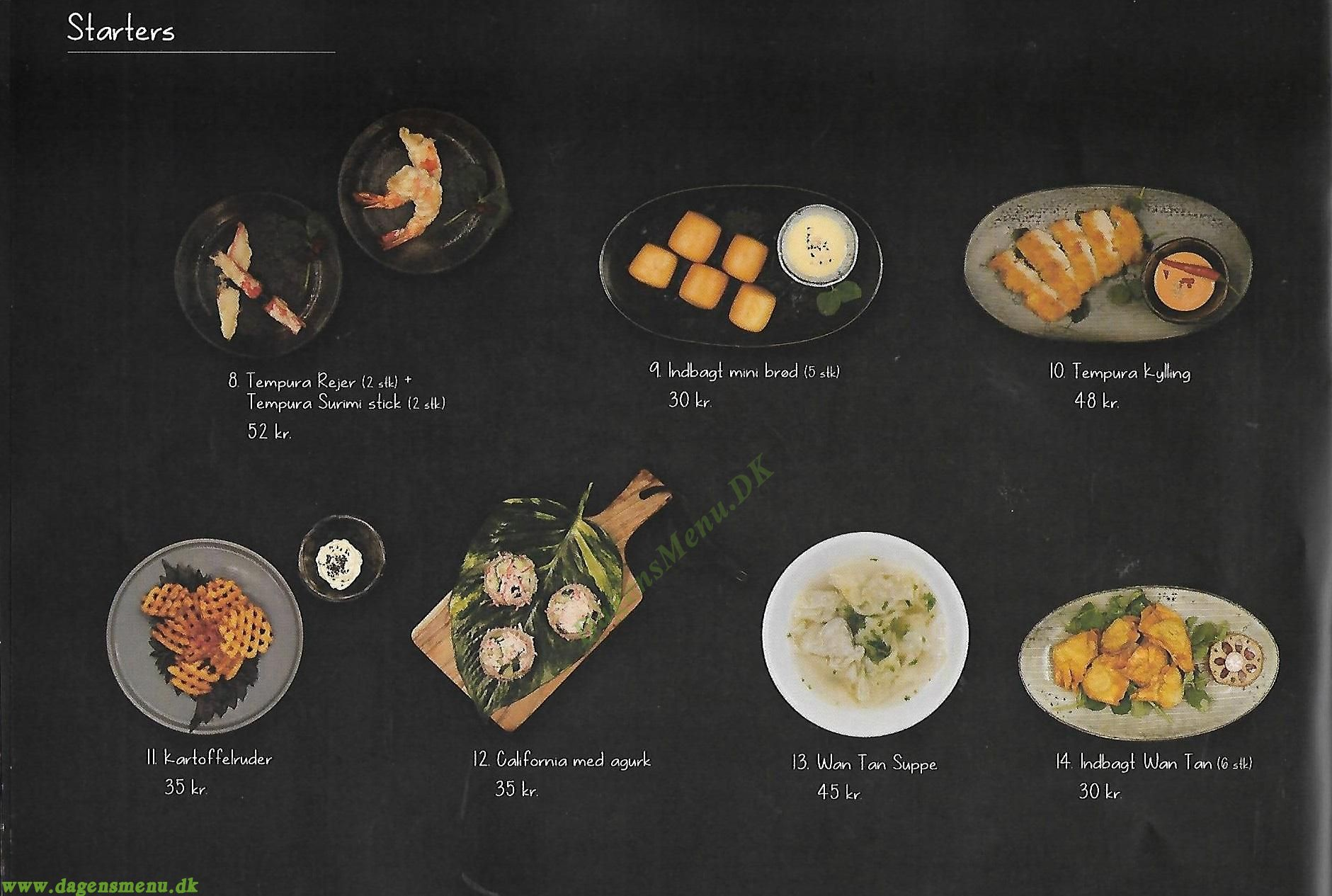 Kasai Sushi Amager - Menukort