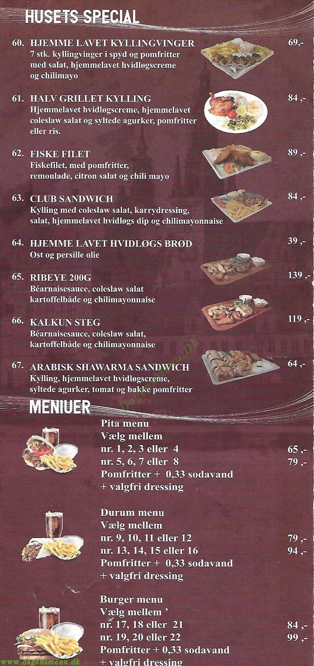 Hillerød Grill House - Menukort
