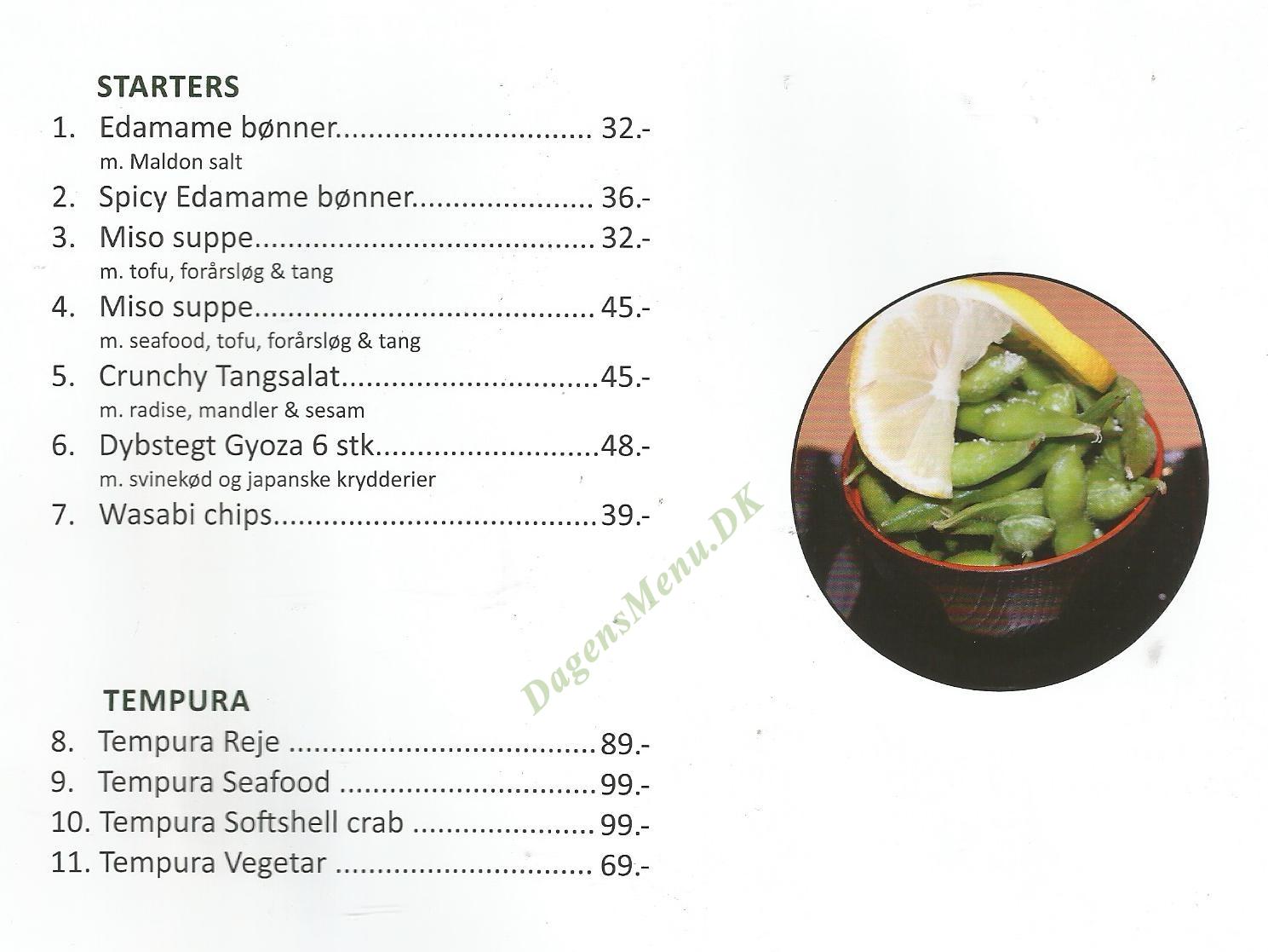 Naked Sushi Amagerbrogade - Menukort