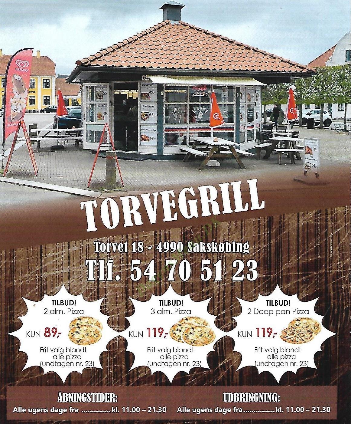 Torvegrill - Menukort