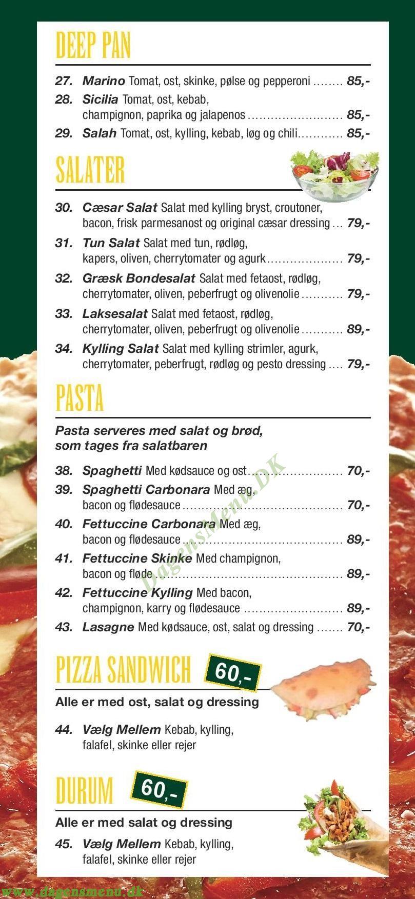 Incow Cafe & Restaurant - Menukort