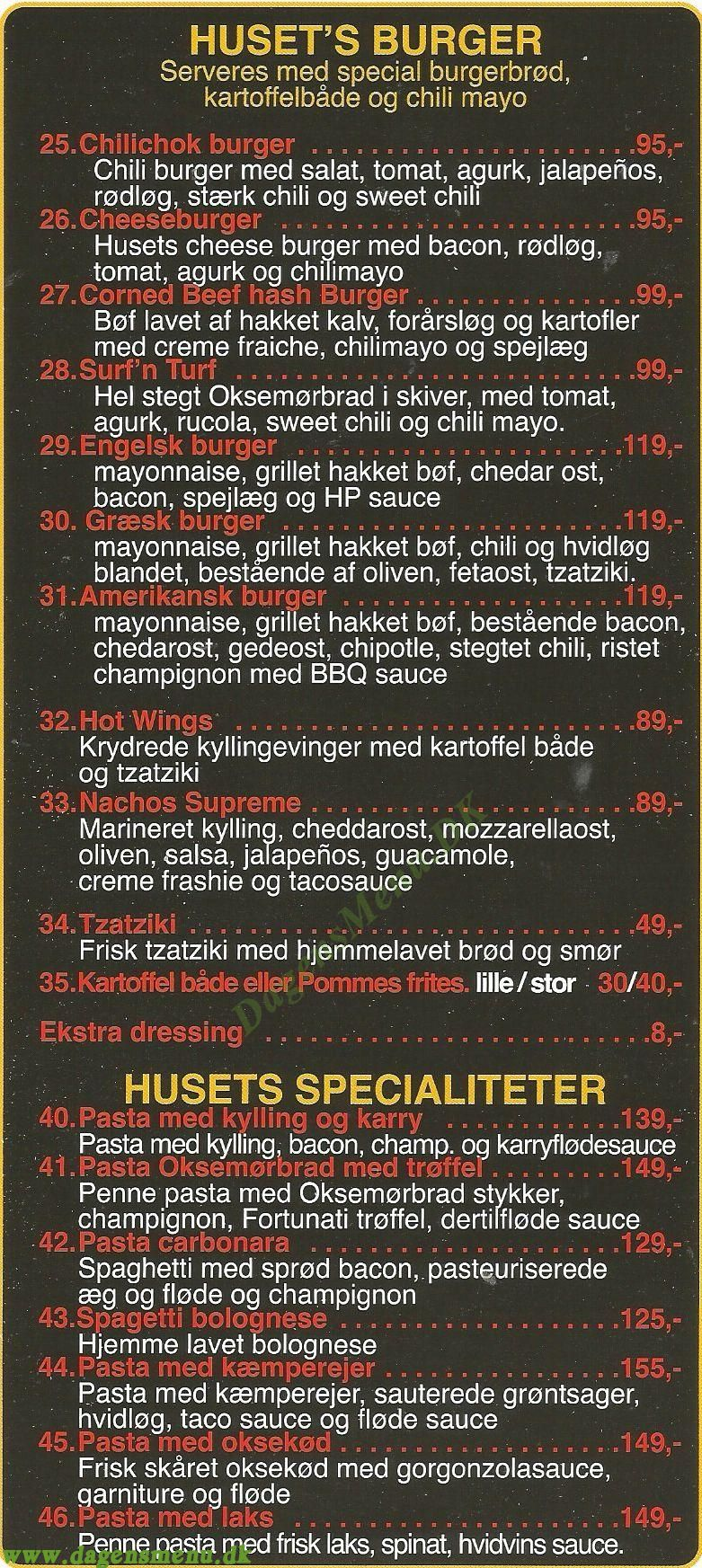 Cafe & Pizza Berk - Menukort