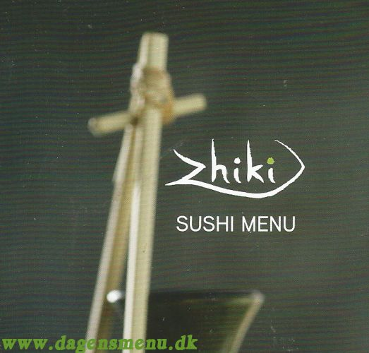 Zhiki Sushi Menu