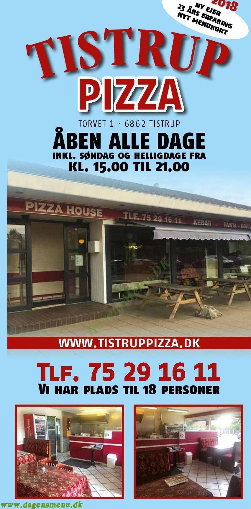 Tistrup Pizza House - Menukort