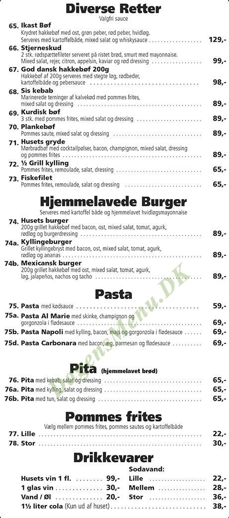 Ikast Pizza & Kebab Huset - Menukort