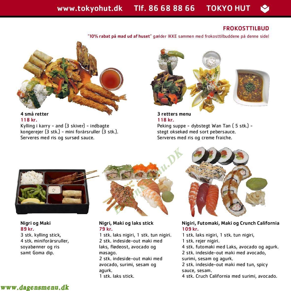Tokyo Hut Running Sushi & Steak House - Menukort