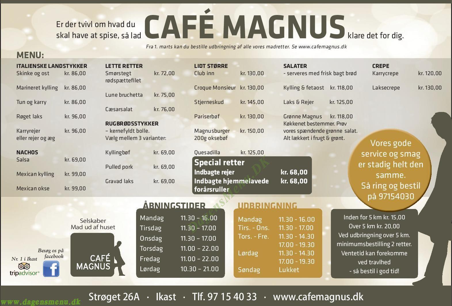 Cafe Magnus - Menukort