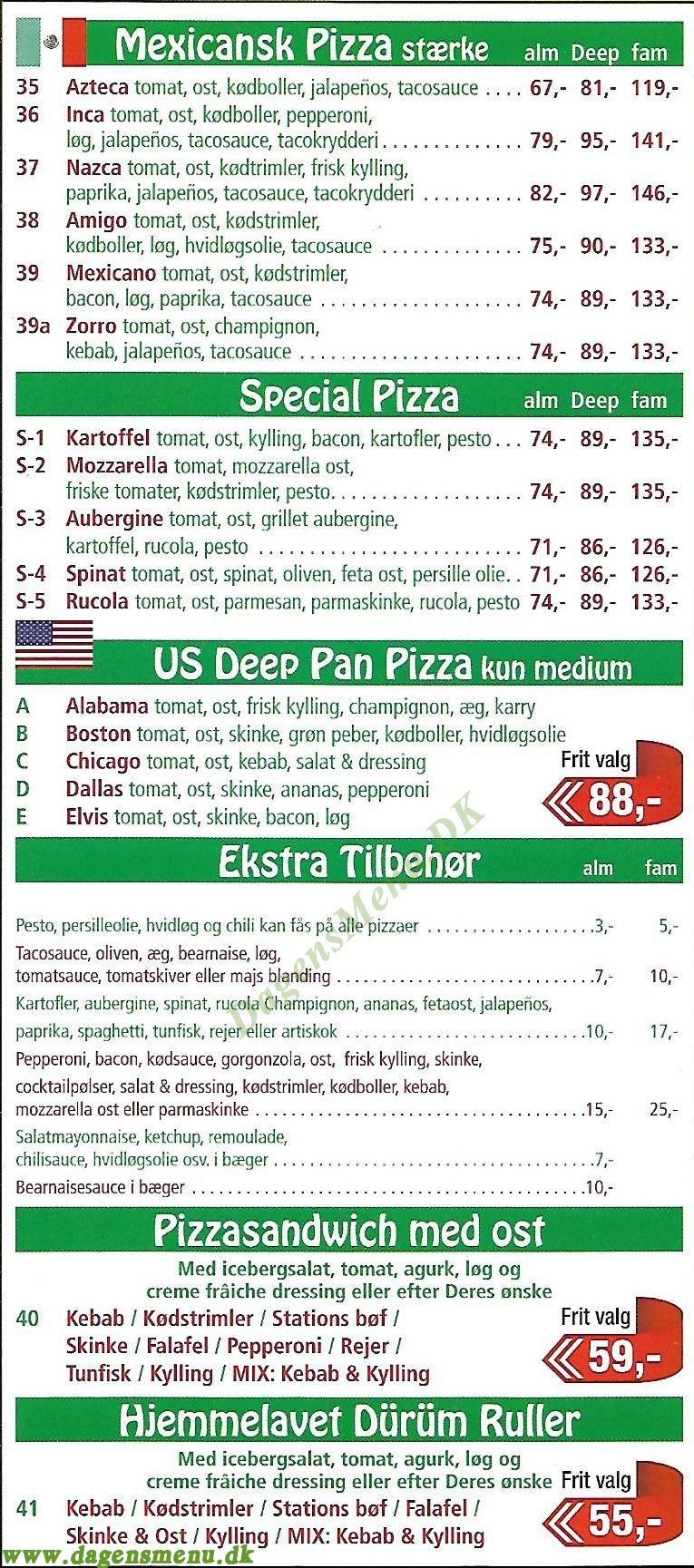 Farum Station Pizza - Menukort