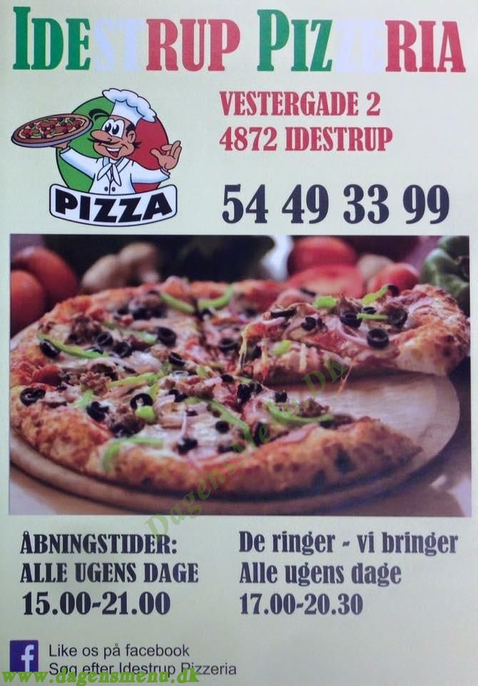 Idestrup Pizza - Menukort
