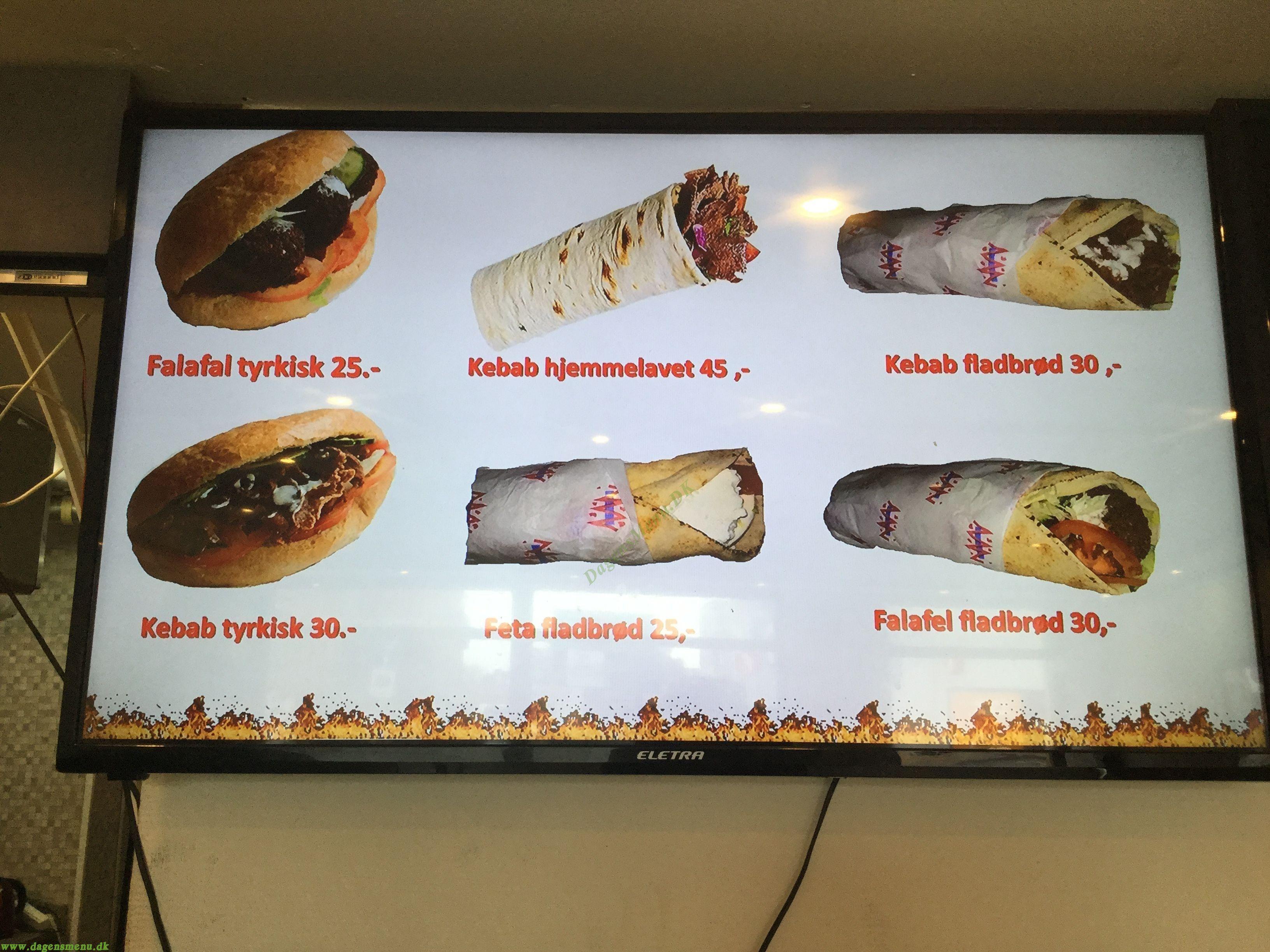 City Shawarma Odense - Menukort
