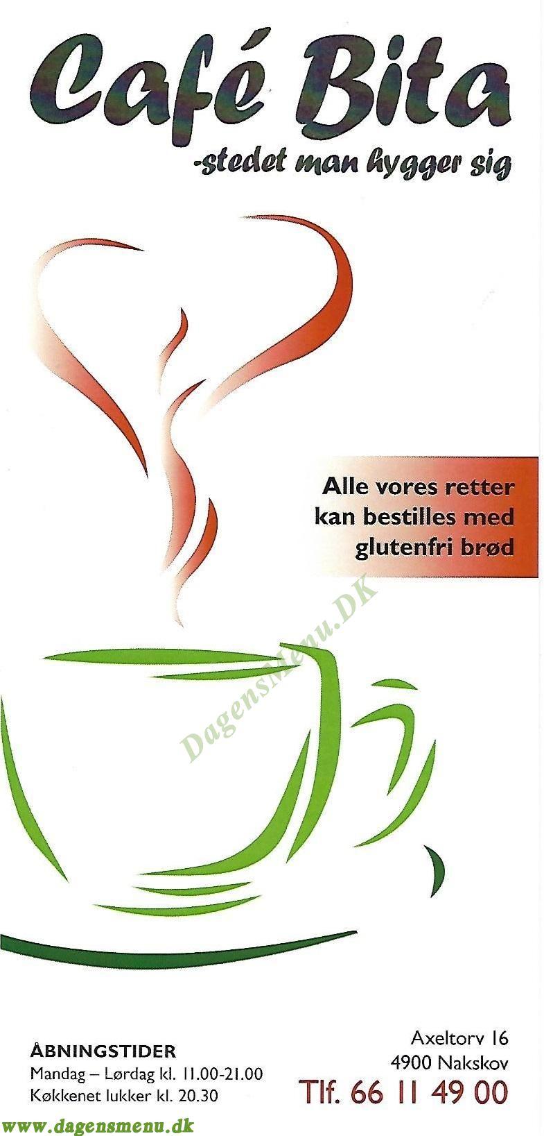 Cafe Bita - Menukort