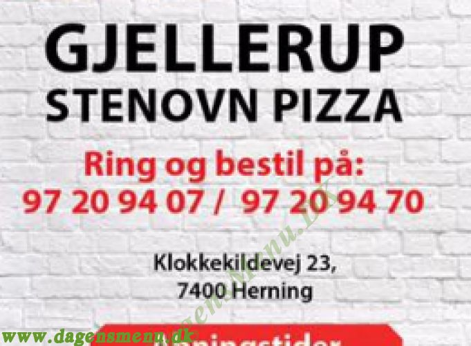 Gjellerup stenovn pizza