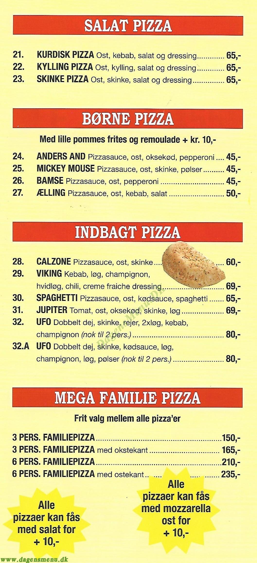 Istanbul Pizza, kebab & Grill - Menukort