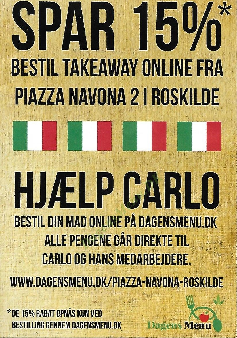 Piazza Navona 2 - Menukort