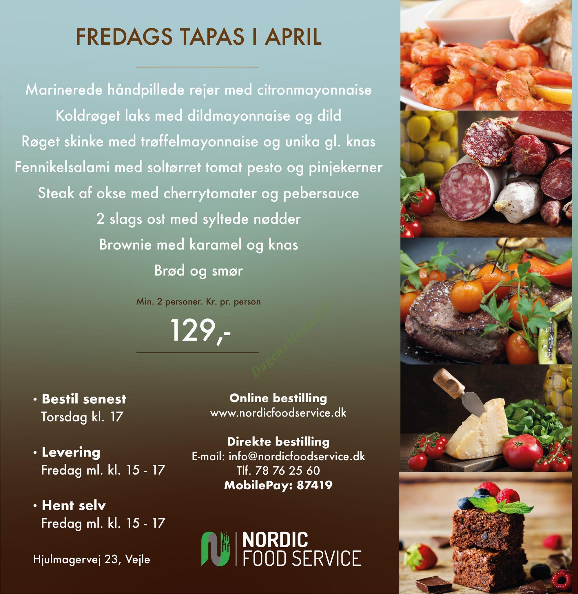 Nordic Food Service - Menukort