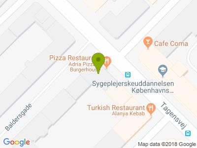 Adria Pizza - Kort