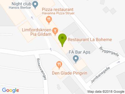 La Boheme Restaurant - Kort