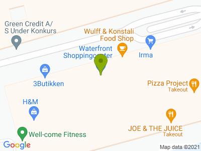 42Raw Waterfront Hellerup - Kort